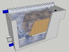 Rapid 'wet' sand filter